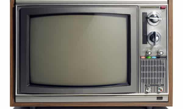Old-fashioned TV set