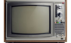 Old-fashioned TV set