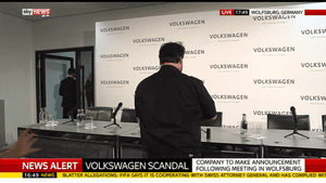 VW press conference