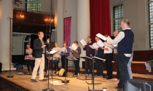 The Tallis Scholars, directed by Peter Phillips, at St John's Smith Square for their 2000th concert.