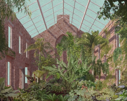 Granby Four Streets 2014 - Greenhouse view by Assemble, part of their work on a Liverpool housing terrace