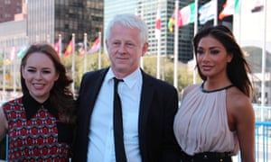 Tanya Burr, Richard Curtis and Nicole Scherzinger