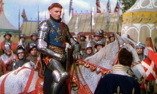 Laurence Olivier in his film version of Henry V.