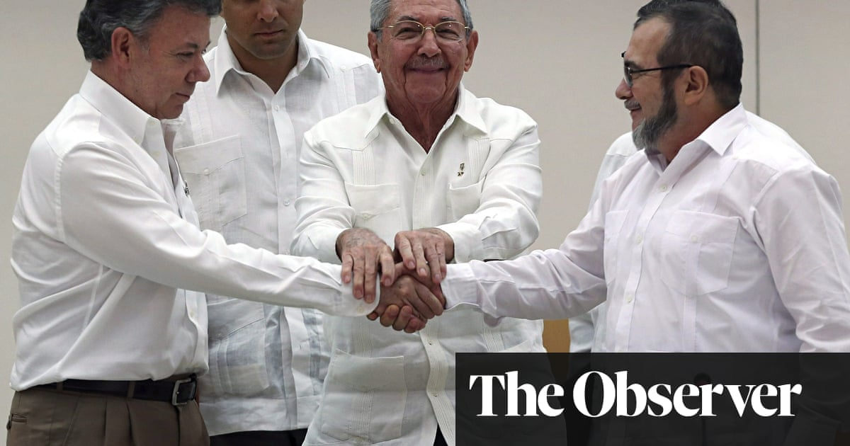 Colombia Peace Deal With Farc Is Hailed As New Model For Ending