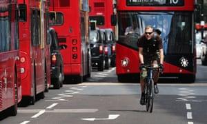 Traffic in Oxford Street, London