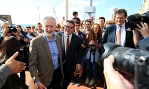 Labour leader Jeremy Corbyn arrives at the Hilton in Brighton for the party conference.