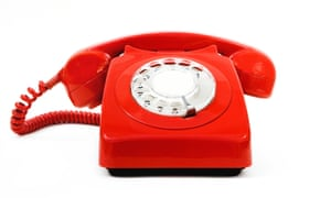Classic vintage red telephone
