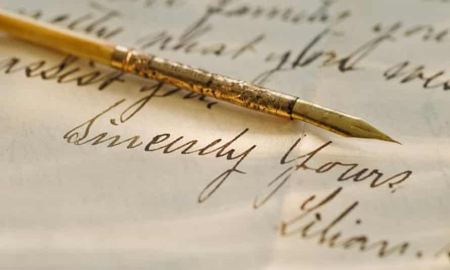 An antique quill pen