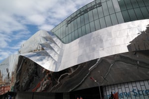 Hall of mirrors … The facade is 'an embodiment of the flows that go through the station'.