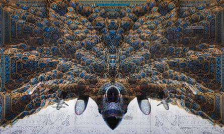 'Usually people look skywards for inspiration; now they look up and see a bomber' … an image from Abdulnasser Gharem's exhibition Ricochet.