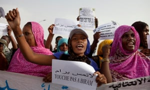 Campaigners against slavery in Mauritania