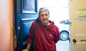 Tom McKinnes, homeless man in Slough