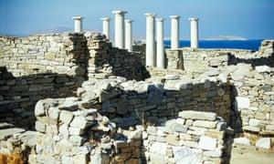 The Apollo temple at Delos, Greek Islands