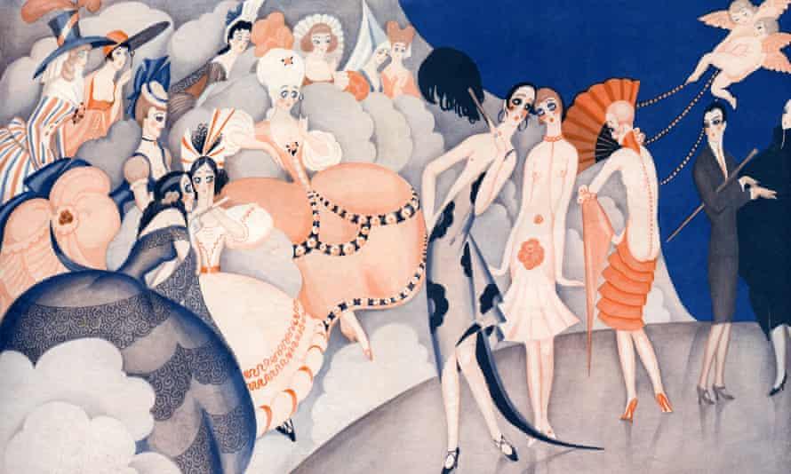 An illustration by Gerda Wegener in 1925