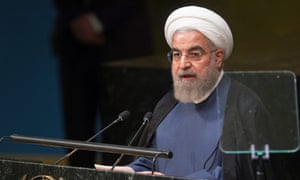 Iran's president Hassan Rouhani addresses the UN general assembly.