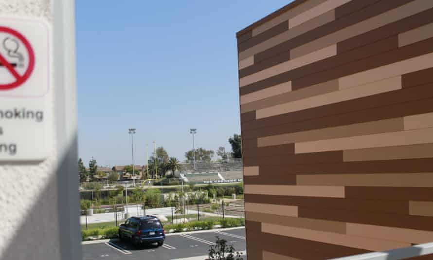 """""""What better way to use a remnant piece of school property?"""" The district built the housing units on a disused portion of the Gardena High School campus."""
