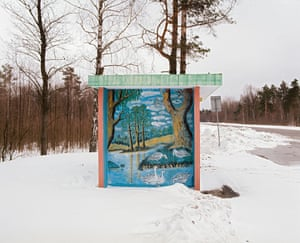 Mural on a bus stop in Belarus. From the It Must Be Beautiful project by Alexandra Soldatova.