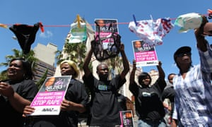 South Africans call on President Jacob Zuma to take action to prevent sexual violence.