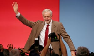 Labour leader Jeremy Corbyn at Labour conference in Brighton