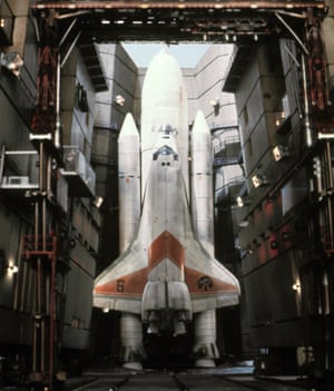 The 1979 James Bond film Moonraker, which gave many people their first glimpse of the space shuttle