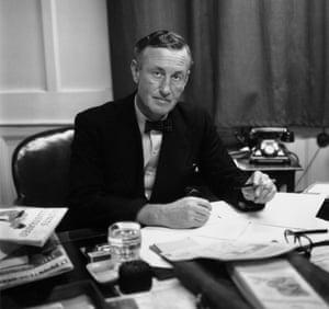 James Bond creator Ian Fleming at his desk in 1958.