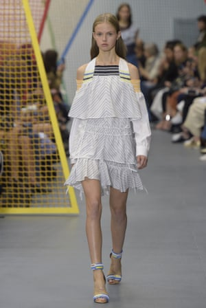 Cold shoulders on the Peter Pilotto catwalk.