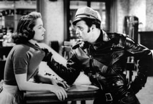 Brando with Mary Murphy in The Wild One (1953)