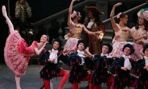 Svetlana Zakharova (left) in Alexei Ratmansky's The Sleeping Beauty at La Scala, Milan.