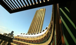 Shakespeare Tower, a housing block on the Barbican Estate, built from 1965-76.