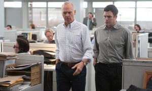 'Never hits the heights of passion but capably and decently tells an important story' ... Michael Keaton and Mark Ruffalo in Spotlight