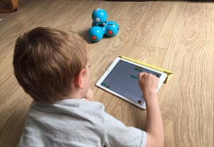 My son struggles with concentration, but was entranced by programming Dash.