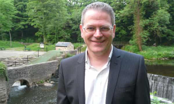 Richard Body at the Torrs Hydro scheme in Derbyshire