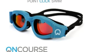 Navigation goggles for swimming in open water.