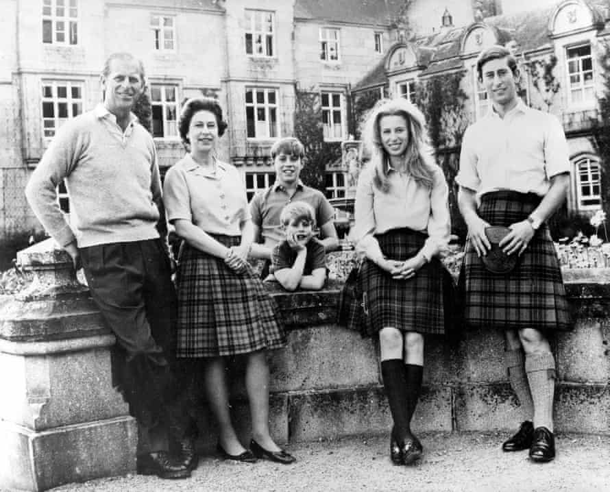 Queen Elizabeth II and family decked out in kilts at Balmoral