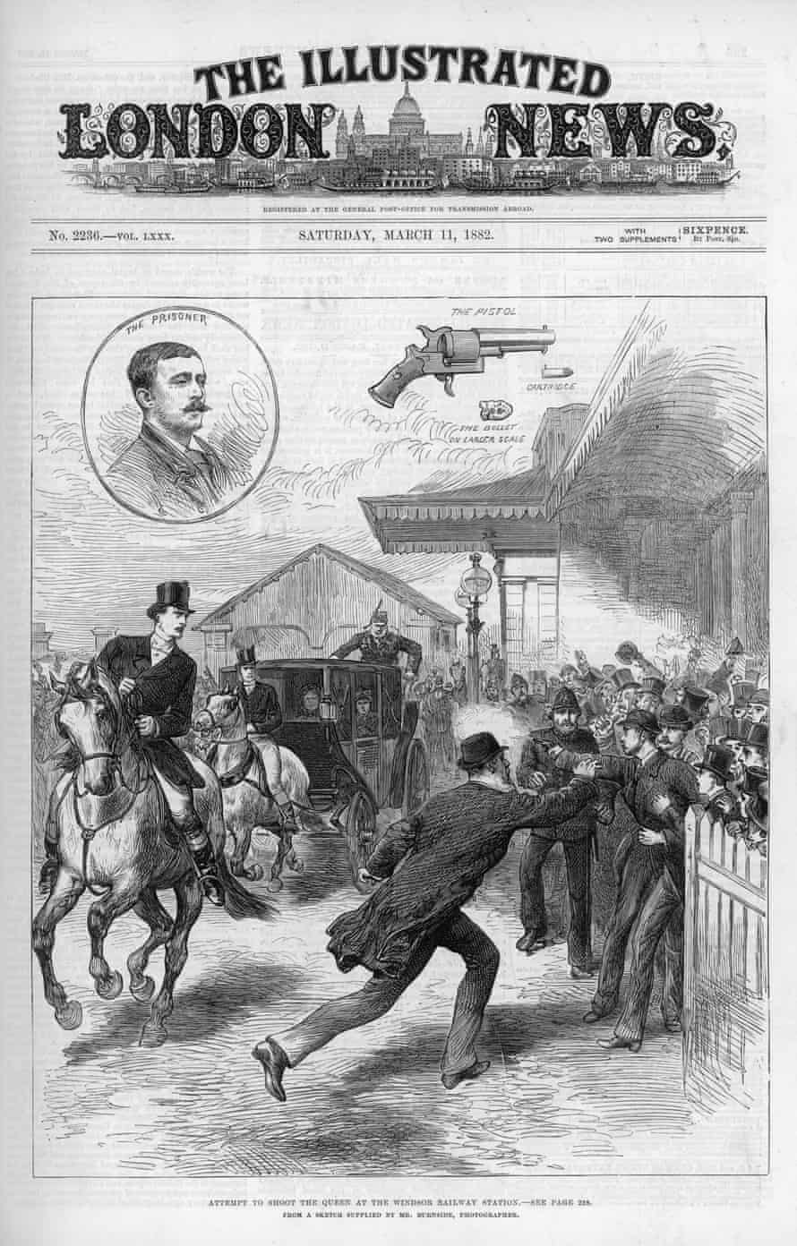 Assassination attempt against Queen Victoria in 1882 at Windsor railway station