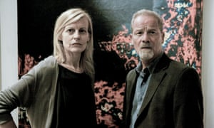 Anastasia Hille and Peter Mullan in The Fear.