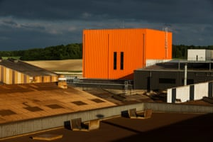 Even the factory is painted in the iconic orange