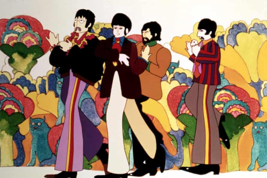 The Beatles' Yellow Submarine, 1968. Photograph: Everett Collection/Rex Feature