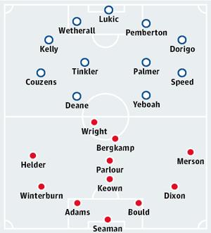 Leeds v Arsenal, Elland Road, Saturday 14 October 1995