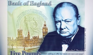 A concept design of the new £5 polymer banknote.