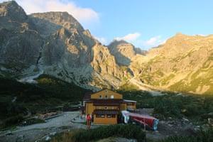 Zelenom Hut at dawn.