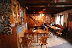 Inside Swiss-style Zamkovskeho Hut