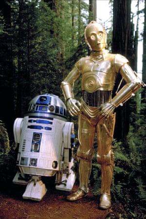 R2-D2 & C-3PO in Return of the Jedi.