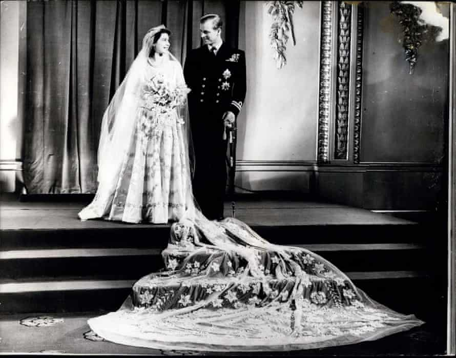 The Queen and Prince Philip on their wedding day in 1947.