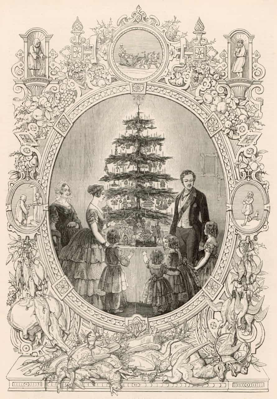 The trend-starting image of Queen Victoria and her family around a Christmas tree, published in the Illustrated London News in 1848.