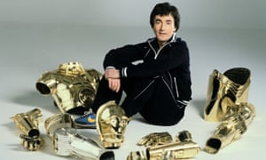 Daniels with his C-3PO costume, 1977.
