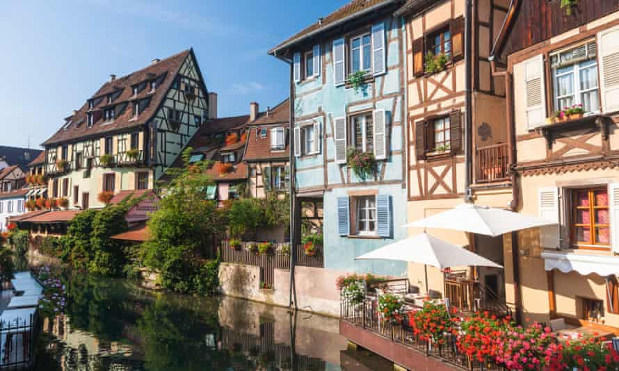 A canal in the centre of Colmar, Alsace.