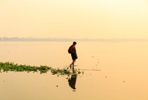 Sunrise in Amarapura, a small village in the south of Mandalay city, Myanmar