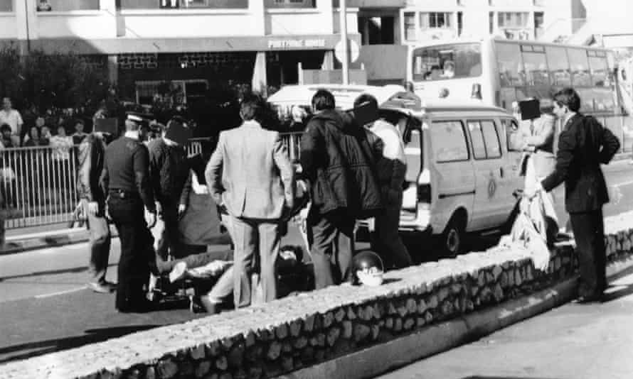 Scene of the shooting of three IRA members in Gibraltar, March 1988.