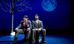Vladimir and Estragon in the West Yorkshire Playhouse production of Waiting for Godot.